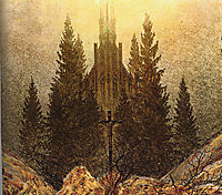 The Cross on the Mountain, Kunstmuseum at Dusseldorf, friedrich