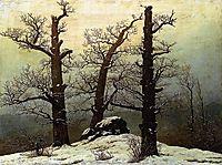 Dolmen in snow, 1807, friedrich