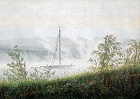 Elbschiff in early morning fog, friedrich