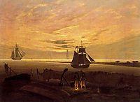 Evening on the Baltic Sea, friedrich