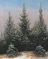 Fir Trees in the Snow, 1828, friedrich