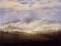 Fog in the Elbe Valley, 1821, friedrich