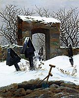 Graveyard under Snow, 1826, friedrich