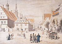 Greifswald market, friedrich