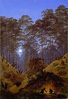 Inside the Forest under the moonlight, friedrich