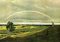 Landscape with rainbow, c.1810, friedrich