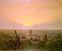 Moon rising over Sea, 1821, friedrich