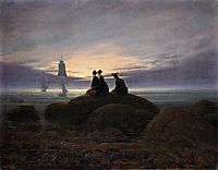 Moonrise by the Sea, 1822, friedrich