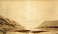 Mountainous River Landscape, Day Version, 1830-1835, friedrich