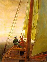 On board a Sailing Ship, friedrich