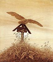 Owl on a grave, c.1837, friedrich