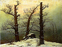 Passage grave in the snow, friedrich