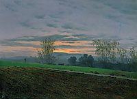 Plowed field, friedrich