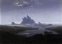 Rocky Reef on the Sea Shore, 1824, friedrich