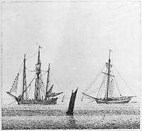 Sea with ships, friedrich