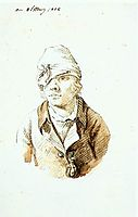Self-Portrait with Cap and Sighting Eye Shield, 1802, friedrich