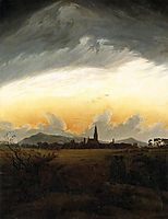 Sunrise, Neubrandenburg, 1817, friedrich