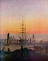 Ships at the port of Greifswald, c.1810, friedrich