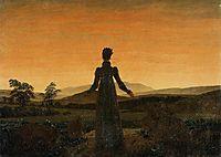 Woman before the Rising Sun, Woman before the Setting Sun, 1818-1820, friedrich