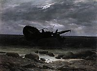 Wreck in the Moonlight, 1835, friedrich