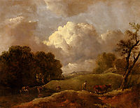 An Extensive Landscape With Cattle And A Drover, gainsborough