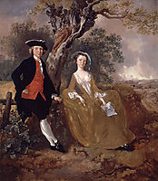 An Unknown Couple in a Landscape, c.1755, gainsborough