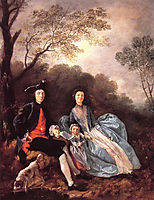 The Artist with his Wife and Daughter, c.1748, gainsborough