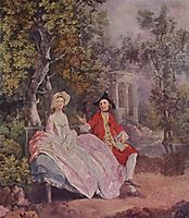 Conversation in a Park, 1745, gainsborough