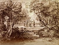 Dancers With Musicians In A Woodland Glade, 1733, gainsborough