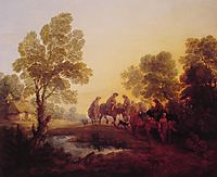 Evening Landscape Peasants and Mounted Figures, c.1771, gainsborough