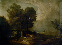 Figures with Cattle in a Landscape, gainsborough