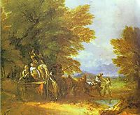 The Harvest Wagon, 1767, gainsborough