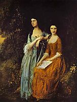 The Linley Sisters (Mrs. Sheridan and Mrs. Tickell), 1772, gainsborough