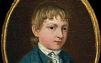 The miniature portrait of a young boy (supposed self-portrait), c.1737, gainsborough