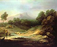 Mountain Landscape with Shepherd, 1783, gainsborough