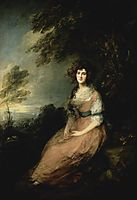 Mrs. Richard Brinsley Sheridan, 1786, gainsborough