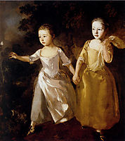 The Painter-s Daughters chasing a Butterfly, 1759, gainsborough