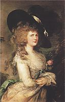 Portrait of Georgiana, Duchess of Devonshire, gainsborough
