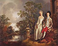 Portrait of Heneage Lloyd and his Sister, Lucy, c.1750, gainsborough