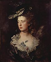 Portrait of the Mary Gainsborough, 1777, gainsborough