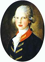 Portrait of Prince Edward, Later Duke of Kent, 1782, gainsborough