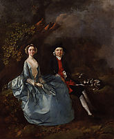 Portrait of Sarah Kirby (née Bull) and John Joshua Kirby, c.1752, gainsborough