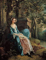 Portrait of a Woman (possibly of the Lloyd Family), c.1750, gainsborough