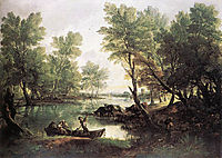 River landscape, 1770, gainsborough
