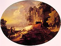 River Landscape with Rustic Lovers, 1781, gainsborough