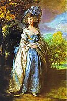 Sophia Charlotte, Lady Sheffield, 1786, gainsborough