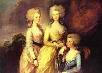 The three eldest daughters of George III: Princesses Charlotte, Augusta and Elizabeth, 1784, gainsborough