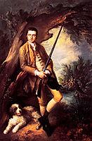 William Poyntz of Midgham and his Dog Amber , 1762, gainsborough