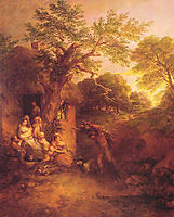 The Woodcutter-s House , 1773, gainsborough
