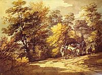 Wooded Landscape with a Waggon in the Shade, c.1765, gainsborough